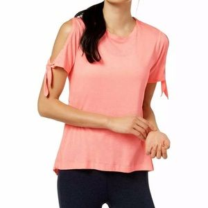 NWT Calvin Klein Icy Wash Cold-Shoulder vented Tee